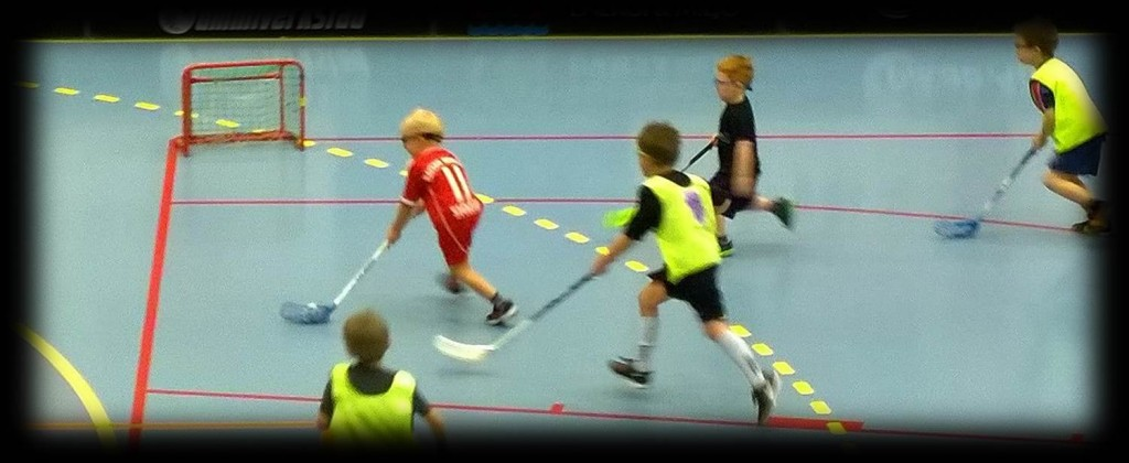 Floorball practice and drills goal scoring