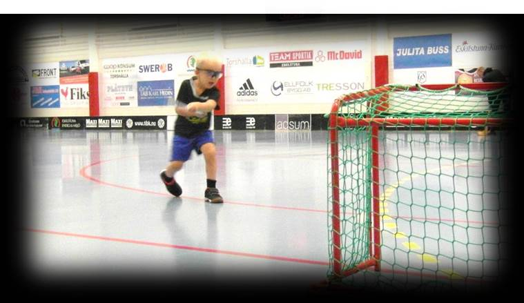 Floorball practice shooting drill