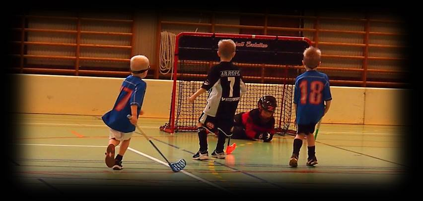 Floorball practice and drills shot on goal